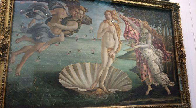 フィレンツェ、2日目、ウフィツィ美術館、《ヴィーナスの誕生》