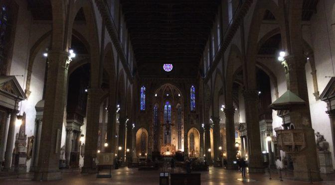 フィレンツェ、2日目、サンタ・クローチェ聖堂、内部