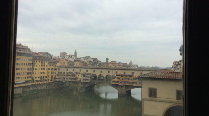 フィレンツェ、2日目、ウフィツィ美術館、窓からの眺め