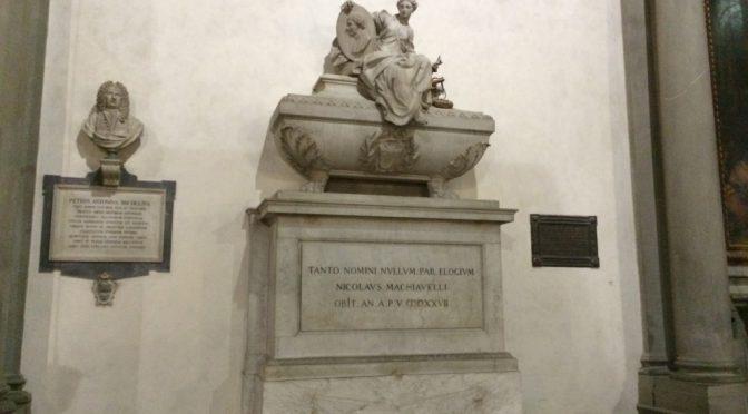 フィレンツェ、2日目、サンタ・クローチェ聖堂、マキャベリの墓