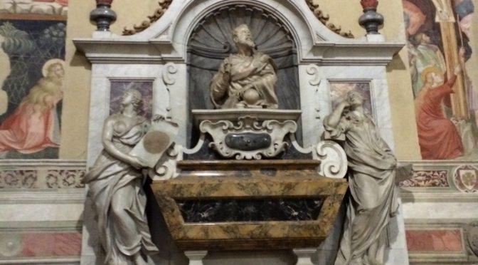 フィレンツェ、2日目、サンタ・クローチェ聖堂、ガリレオ・ガリレイの墓