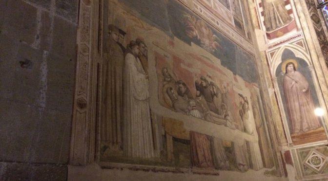 フィレンツェ、2日目、サンタ・クローチェ聖堂、ジョット『聖フランシスコの生涯』