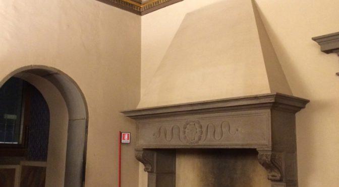 フィレンツェ、2日目、ヴェッキオ宮殿、暖炉