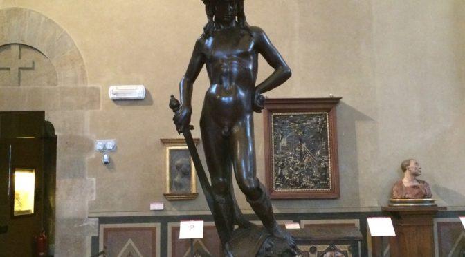フィレンツェ、3日目、パルジェロ国立美術館、ドナテッロ作、《ダヴィデ》