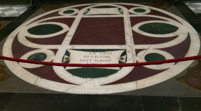 フィレンツェ、3日目、サン・ロレンツォ聖堂、コジモ・デ・メディチの墓