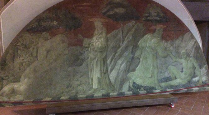 フィレンツェ、3日目、サンタ・マリア・ノヴェッラ教会、緑の回廊