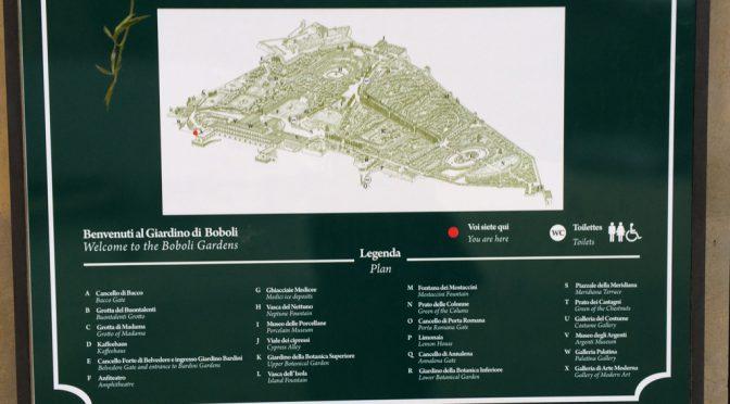 フィレンツェ、4日目、ピッティ宮殿、地図