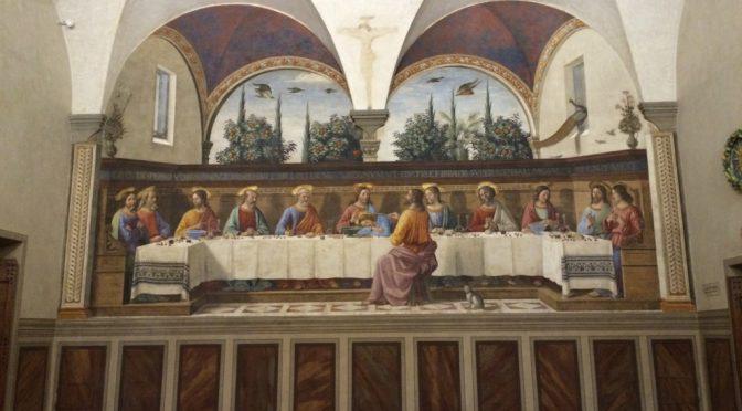 フィレンツェ、5日目、サン・マルコ美術館、ギルランダイオ、《最後の晩餐》