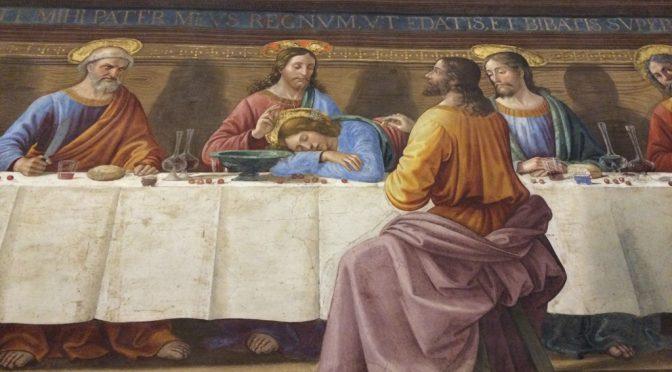 フィレンツェ、5日目、サン・マルコ美術館、ギルランダイオ、《最後の晩餐》、ユダ