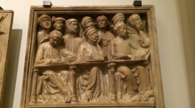 ボローニャ、2日目、市立中世美術館、《ジョヴァンニ・ダ・レニャーノの石棺(一部)》