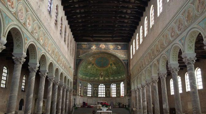 ボローニャ、3日目、ラヴェンナ、サンタポリナーレ・イン・クラッセ聖堂、内部
