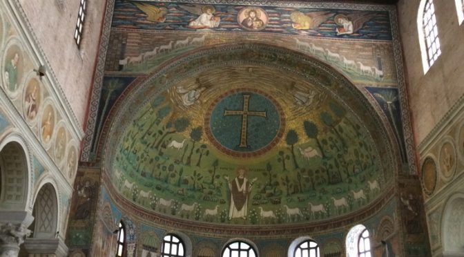 ボローニャ、3日目、ラヴェンナ、サンタポリナーレ・イン・クラッセ聖堂、後陣