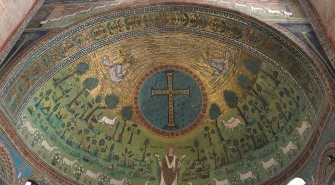 ボローニャ、3日目、ラヴェンナ、サンタポリナーレ・イン・クラッセ聖堂、後陣、解説