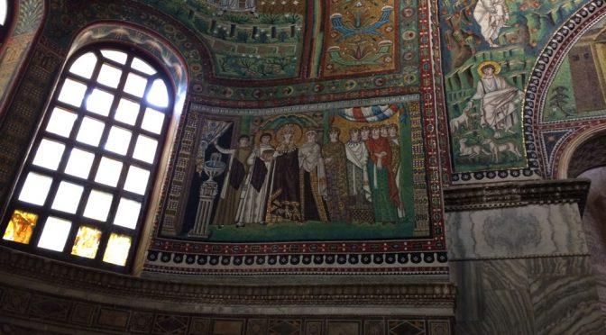 ボローニャ、3日目、ラヴェンナ、サン・ヴィターレ聖堂、《皇妃テオドラと従者たち》