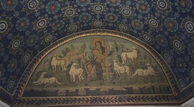 ボローニャ、3日目、ラヴェンナ、ガッラ・プラキディア廟、《善き羊飼い》