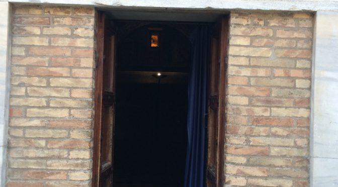 ボローニャ、3日目、ラヴェンナ、ガッラ・プラキディア廟、入り口