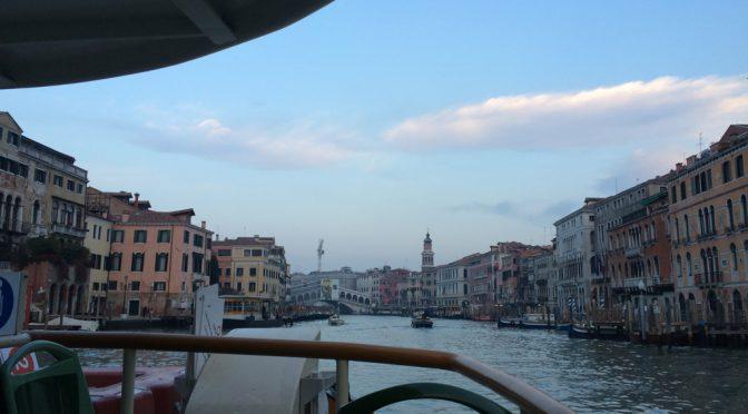ボローニャ、4日目、ヴェネチア、帰りのヴァポレット