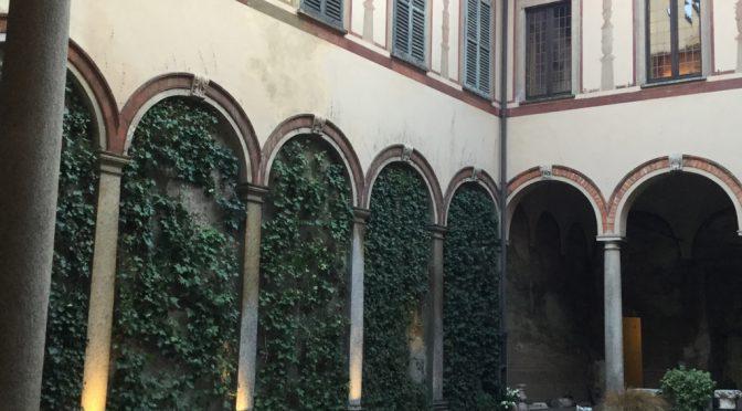 ボローニャ、6日目、ミラノ、とある中庭