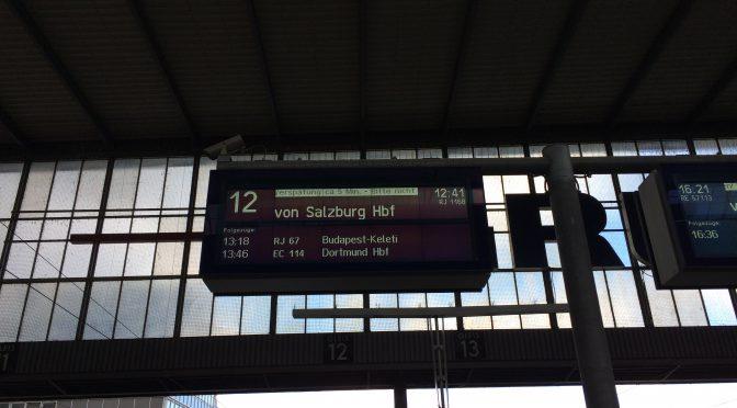 ミュンヘン〜ウィーン、3日目、ミュンヘン中央駅