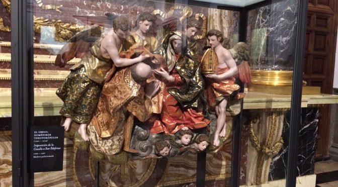 マドリード、3日目、トレド、カテドラル、エル・グレコ、《聖イルデフォンソへのカズラ授与》