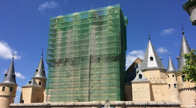 マドリード、4日目、セゴビア、アルカサル、現在工事は完了している模様