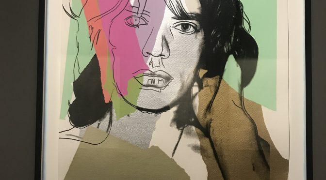 ザ・ローリング・ストーンズ展、本日最終日、アンディ・ウォーホル、《ミック・ジャガー》
