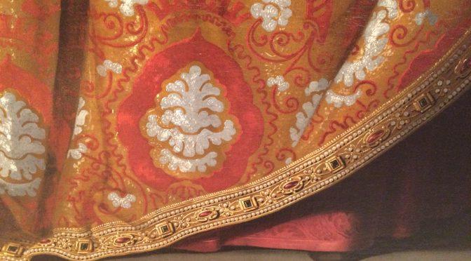 マドリード、4日目、ティッセン・ボルネミッサ美術館、スルバラン、《聖カシルダ》、部分