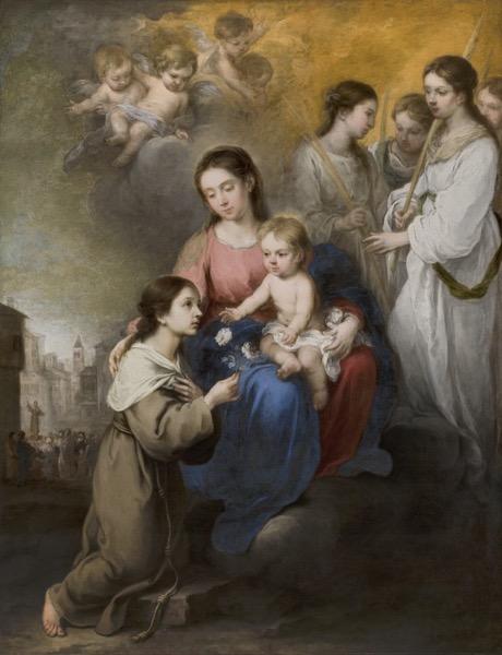MURILLO La Virgen y el Nino con Santa Rosalia de Palermo 296 1968 2 3000pix 1