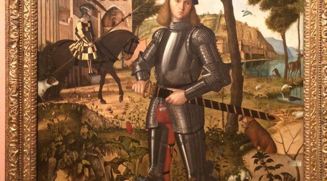 マドリード、4日目、ティッセン・ボルネミッサ美術館、ヴィットーレ・カルパッチョ、《若き騎士の肖像》