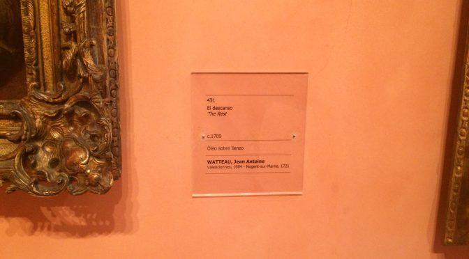 マドリード、4日目、ティッセン・ボルネミッサ美術館、ジャン=アントワーヌ・ヴァトー、《休息》