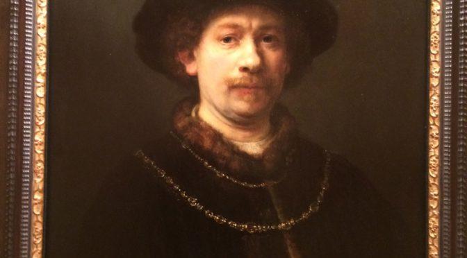 マドリード、4日目、ティッセン・ボルネミッサ美術館、レンブラント、《(帽子と二連のチェーンを身につけた)自画像》