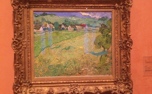 マドリード、4日目、ティッセン=ボルネミッサ美術館、フィンセント・ファン・ゴッホ、《(オーヴェル近郊)ヴェセノの眺め》