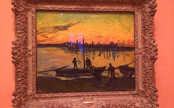 マドリード、4日目、ティッセン=ボルネミッサ美術館、フィンセント・ファン・ゴッホ、《アルルの湾岸労働者たち》