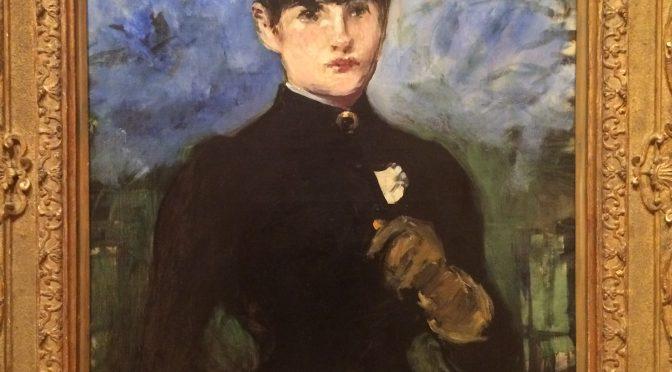 マドリード、4日目、ティッセン=ボルネミッサ美術館、マネ、《(正面を向いた)乗馬服の女》